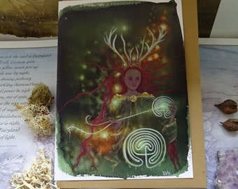 Elen of the Ways Path Weaver Art Card