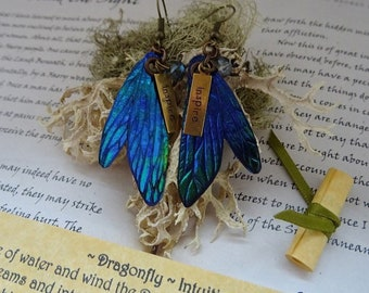 Pretty Dragonfly Wing Earrings