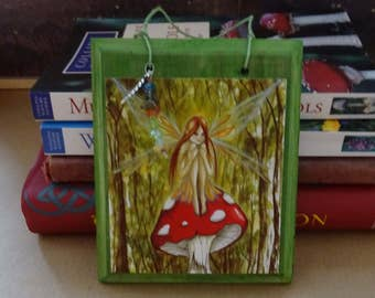 Woodland Wish ~ Hanging Gemstone Wooden Art Plaque