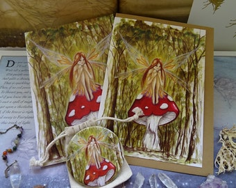 Woodland Wish ~ Notebook, Card & Pocket Mirror Gift Set