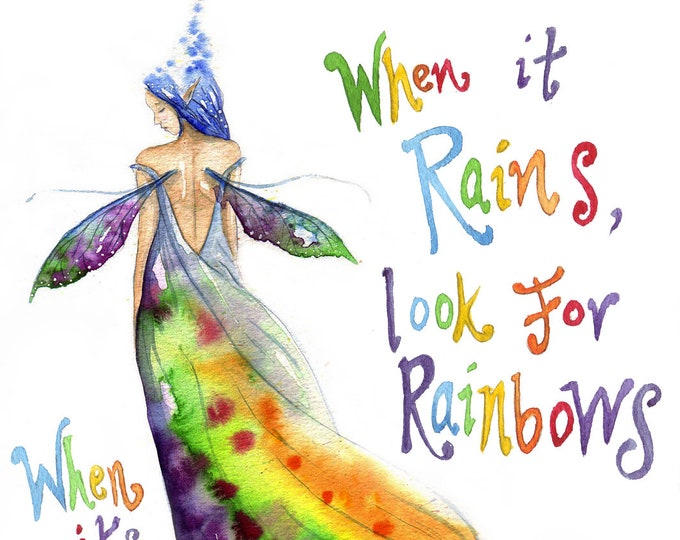 Featured listing image: Rainbow Maker A4 Art Print - When it Rains look for Rainbows....