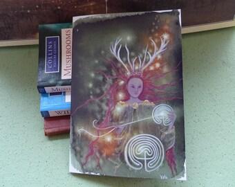 Elen of the ways Notebook, Pathweaver, A5 Notebook, Goddess, Spiritual workbook, Journal, Labyrinth, Celtic, Deer Goddess, Reindeer Goddess