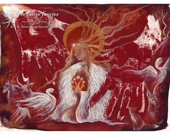 Brighid's Fire ~ A4 Art Print