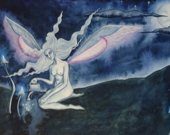 Moon Magic ~ Original Watercolour Painting