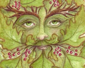 The Green Man Small Art Print