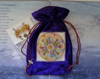 Lifeline Mandala Tarot Card Bag ~ Purple Velvet