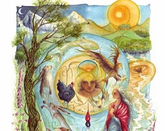 Cerridwen's Spell A3 Art Print