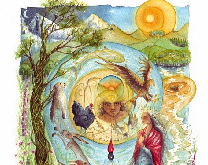 Featured listing image: Cerridwen's Spell A3 Art Print