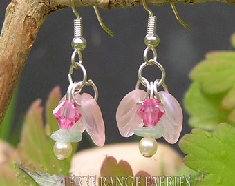 Jade Flower Gemstone Earrings