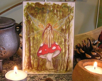 Woodland Wish ~ Mini Laminated Print