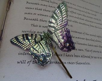 Iridescent Butterfly Hairpin ~ Iridescent
