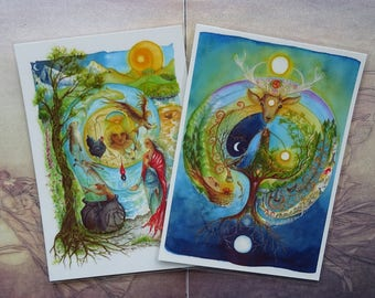 Set of 2 Mini Laminated Print ~ Choose any 2 design