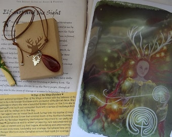 Elen of the Ways ~ Pendant and Print Set