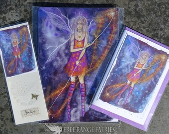 Fire Girl! Notebook, Handmade Bookmark Card Gift Set