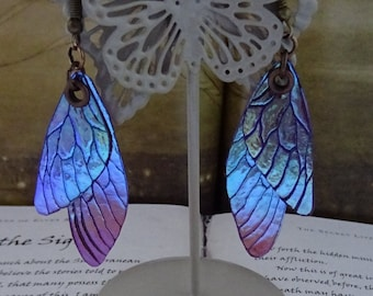 Shimmering Faerie Wing Earrings ~ Sugarplum