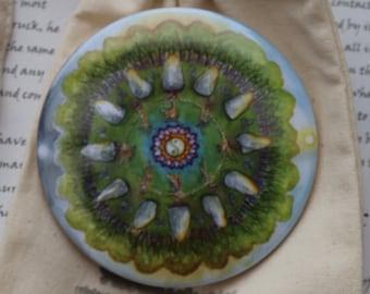 Earth Magic Mandala Pocket Mirror