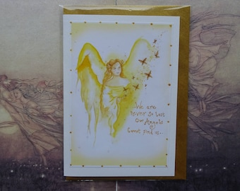 Angel Blessings Handmade Card