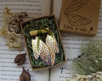 Shimmering Faerie Wing Earrings ~ Iridescent