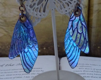Shimmering Faerie Wing Earrings ~ Northern Lights
