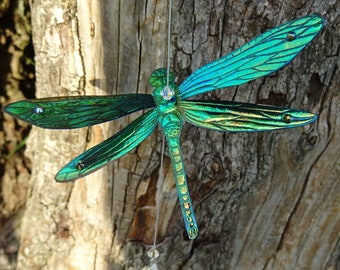 Magical Dragonfly Suncatcher ~ Green Flash