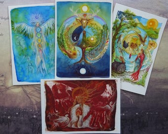 Set of 4 Mini Laminated Prints ~ Choose any 4 designs