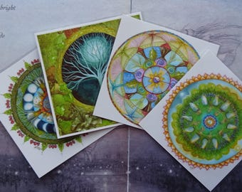 Celtic Mandala Mini Laminated Art Print Set