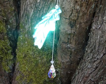 Swarovski Crystal Oak leaf Suncatcher ~ Strength