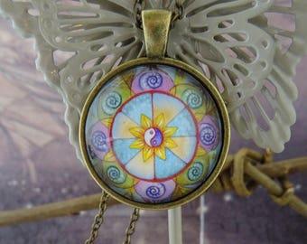 Cosmic Flower Pendant