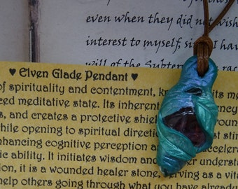 Elven Glade Pendant ~ Amethyst, Peridot & Quartz Handmade Pendant