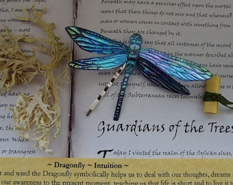 Magical Dragonfly Hairpin ~ Cosmic Blue