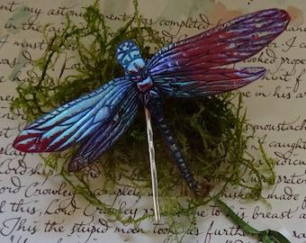 Magical Dragonfly Hairpin ~ Sugarplum