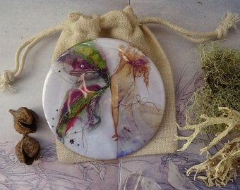 Fabric Faerie Pocket Mirror,