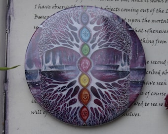 The Crystal Tree Pocket Mirror