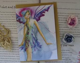 Blue Faerie Art Card