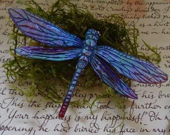 Shimmering Dragonfly Brooch ~ Sugarplum