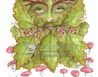 The Green Man Small Art Print