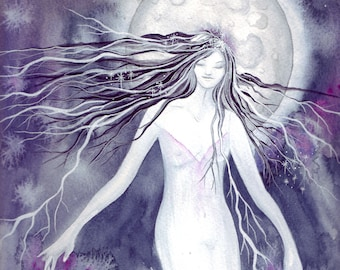 Moon Goddess A4 Art Print