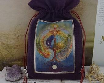 Deer Medicine Tarot Card Bag ~ Made with Hemp/Organic Cotton Sustainable Fabric