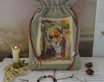 Cerridwen's Spell  Tarot Card Bag ~ Hemp/Organic Cotton Sustainable Fabric