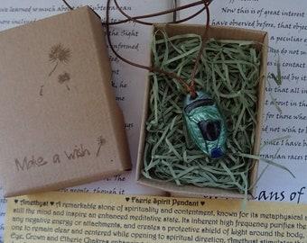 Faerie Spirit Pendant ~ Amethyst, Labradorite & Lapis Lazuli pendant