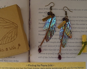 Magical Crystal Drop Fairy Wing Earrings ~ Sugarplum