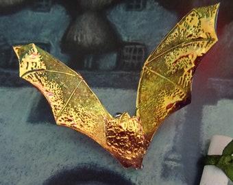 Bat Brooch ~  Flame