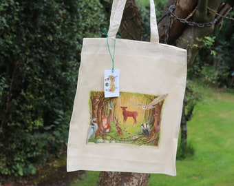 Welcome to the Woods Cotton Tote Bag