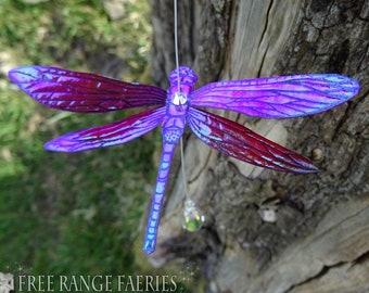 Dragonfly Suncatcher ~  Raspberry