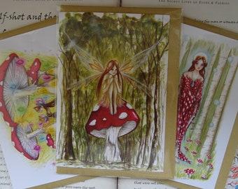 Mushroom Forest ~ Set of 3 Art Cards