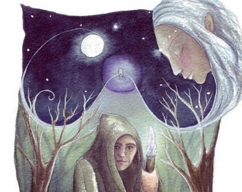 Merlin's Journey A4 Print