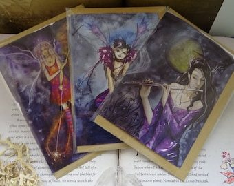 Night Music ~ Pack of 3 Art Cards