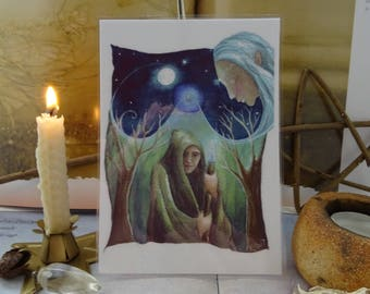 Merlins Journey Mini Art Print