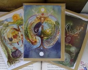 Celtic Spirit ~ Pack of 3 Art Cards