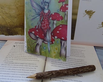 A5 Notebook, Faerie Ring, Fairy Notebook, sketchbook, workbook, Jotter, Recycled, Nature Journal, Faerie art, Toadstool, Woodland Fairy